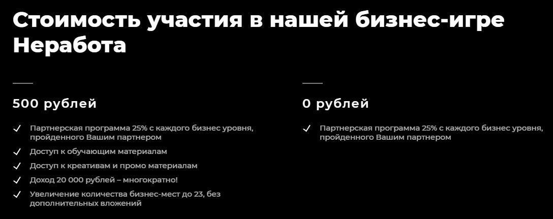ne-rabota инвестиции от 500 рублей