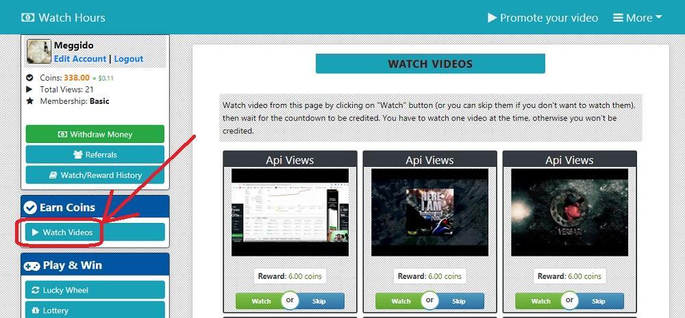 Watch Hours просмотр видео за деньги