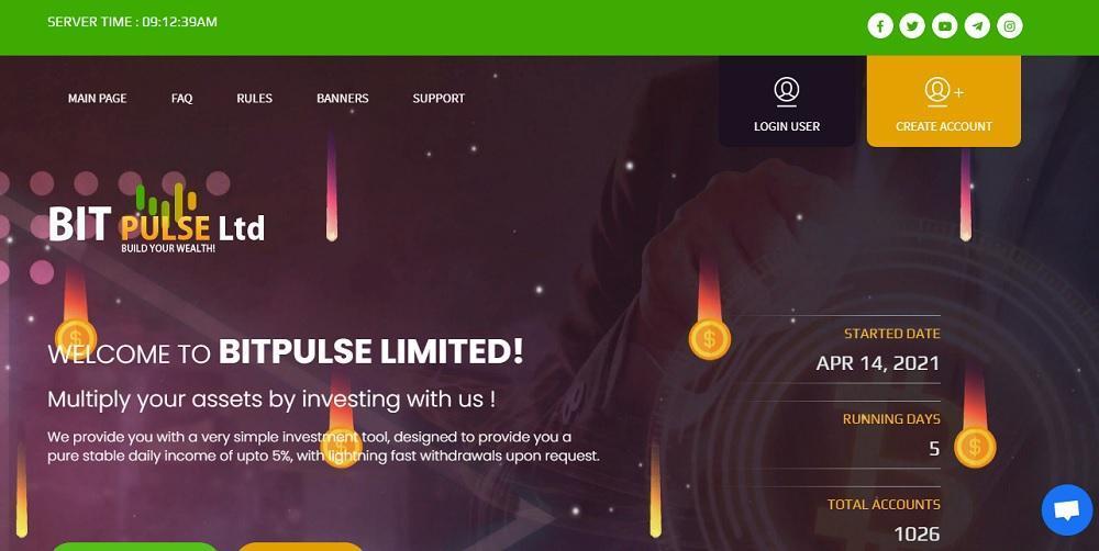 Bitpulse (bitpulse.cc) - платит или нет? Какие отзывы?