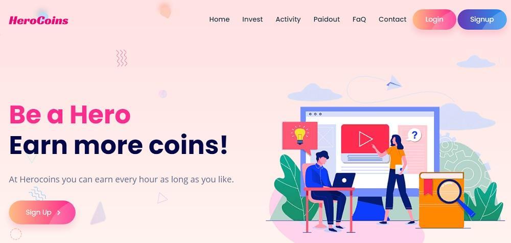 HeroCoins (herocoins.cc) - зарабатывайте больше с каждым днем [лохотрон]