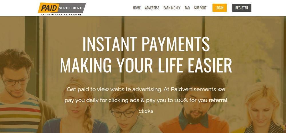 Paidvertisements (paidvertisements.com) - качественный букс или лохотрон? Какие отзывы?