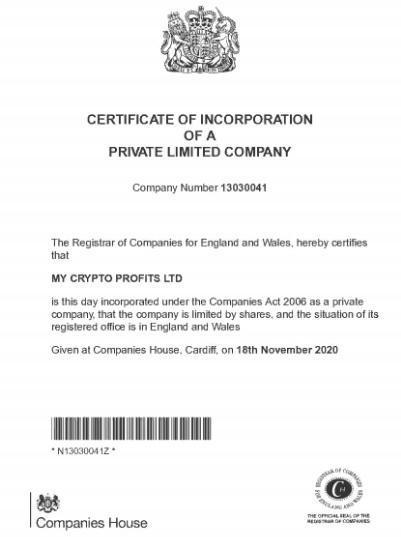 сертификат на сайте fiftyprofit.co