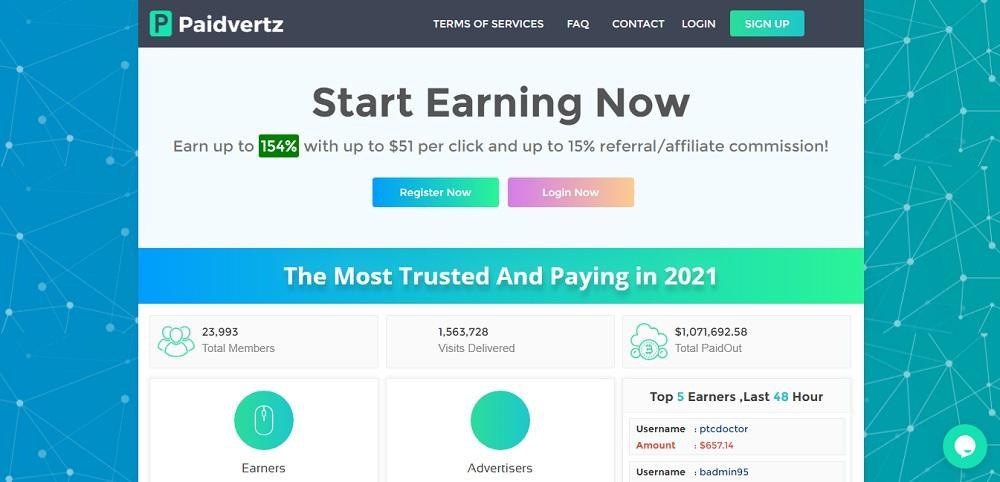 Paidvertz (paidvertz.com) - норм проект или лохотрон?