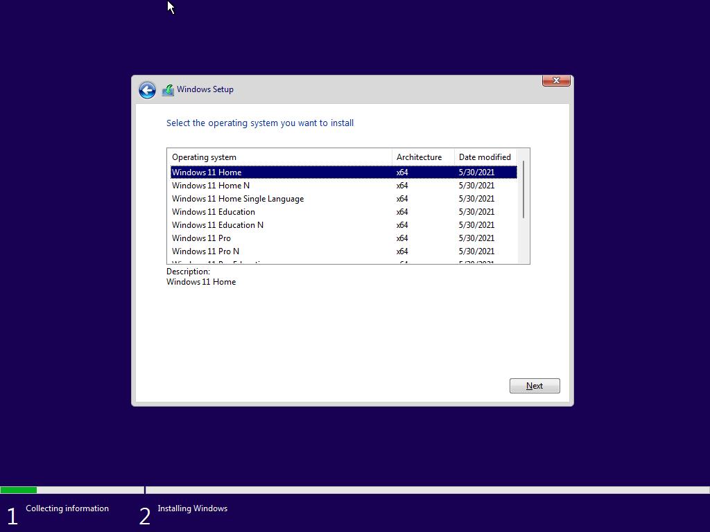 Установка Windows 11