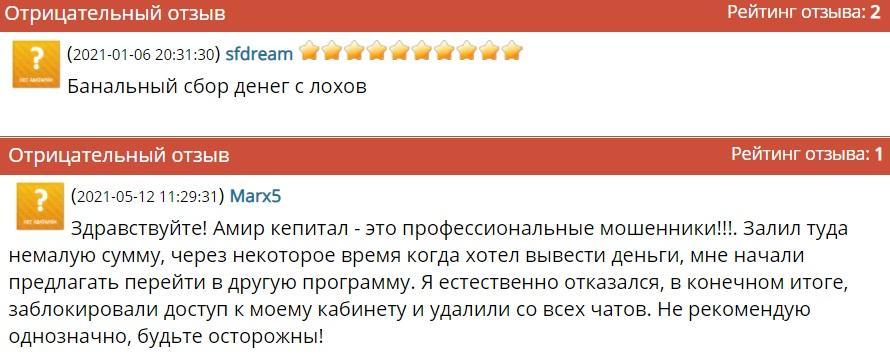 Амир Капитал (amir.capital) отзывы