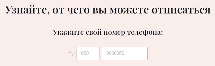 opt-in.ru предлагает отписаться от спама