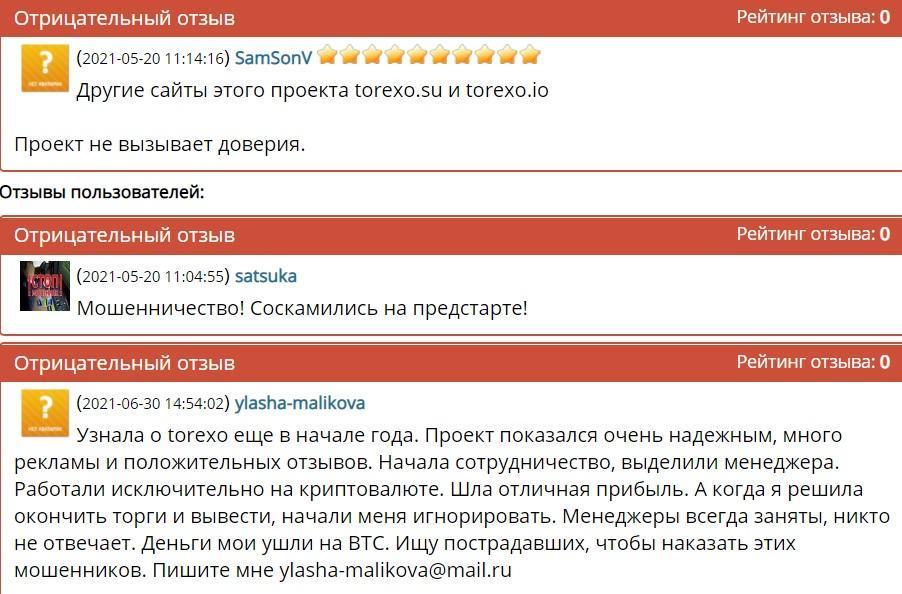 Torexo Finance (torexo.com) отзывы