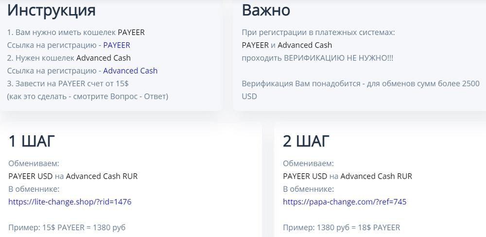 Инструкция по заработку на обмене на сайте top-rabota.club - это лохотрон