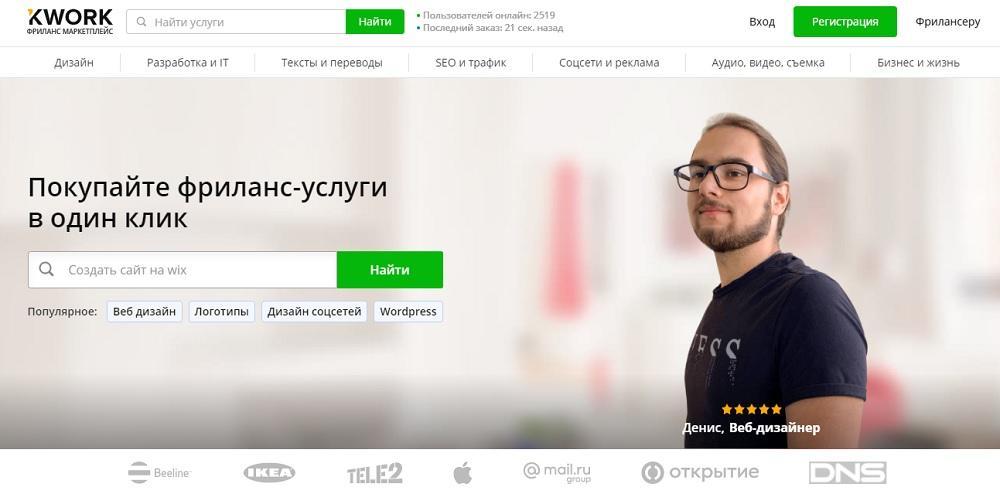 Kwork - магазин фриланс услуг